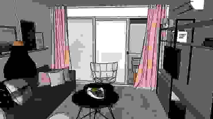 NB INTERIORES Living room Wood Black