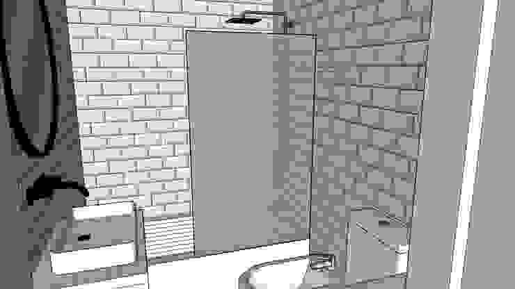 NB INTERIORES Minimalist style bathroom Marble White