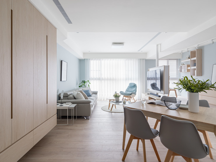 餐廳 Modern Corridor, Hallway and Staircase by 存果空間設計有限公司 Modern