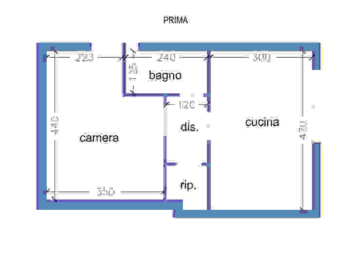 Pianta PRIMA degli interventi di Arch. Sara Pizzo - Studio 1881 Mediterraneo