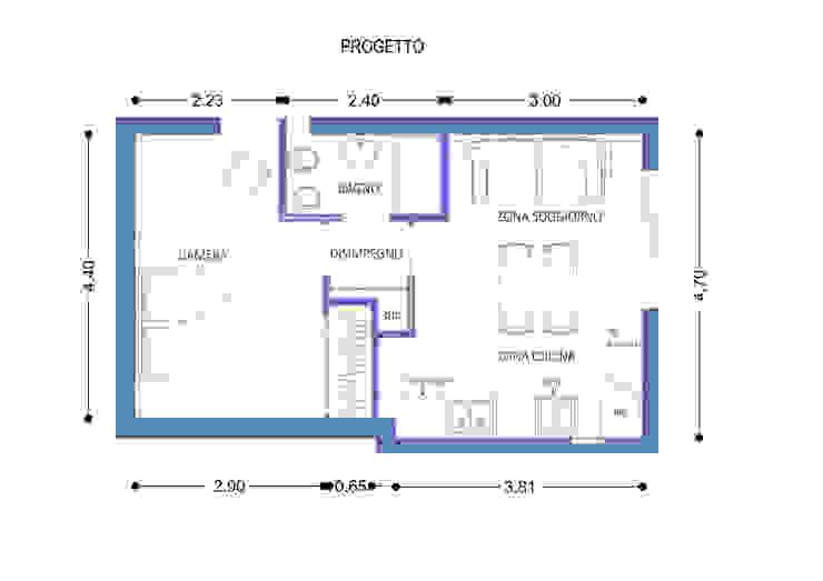 Pianta di Progetto di Arch. Sara Pizzo - Studio 1881 Mediterraneo