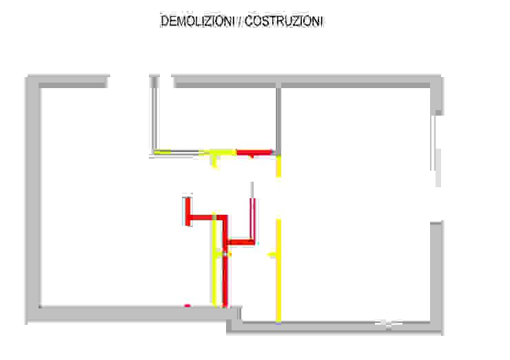 Pianta Demolizioni / Costruzioni di Arch. Sara Pizzo - Studio 1881 Mediterraneo