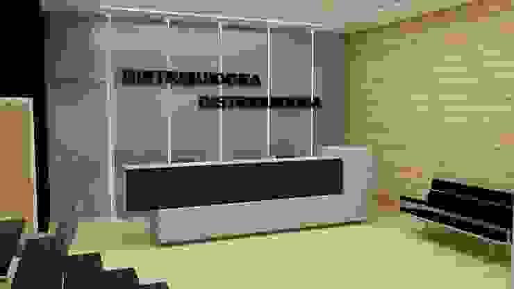 Mueble de Recepción de MAS ARQUITECTURA1 - Arq. Marynes Salas Moderno Compuestos de madera y plástico