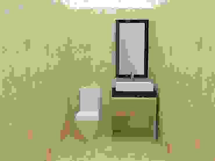 Baño de Oficina de MAS ARQUITECTURA1 - Arq. Marynes Salas Minimalista Cerámica