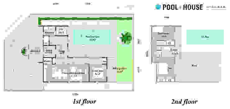 PROSPERDESIGN ARCHITECT OFFICE/プロスパーデザイン Piscinas de estilo ecléctico