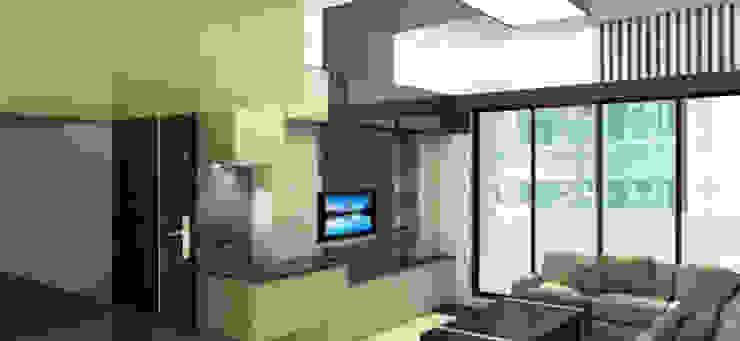 客廳設計 现代客厅設計點子、靈感 & 圖片 根據 RODSGN 現代風
