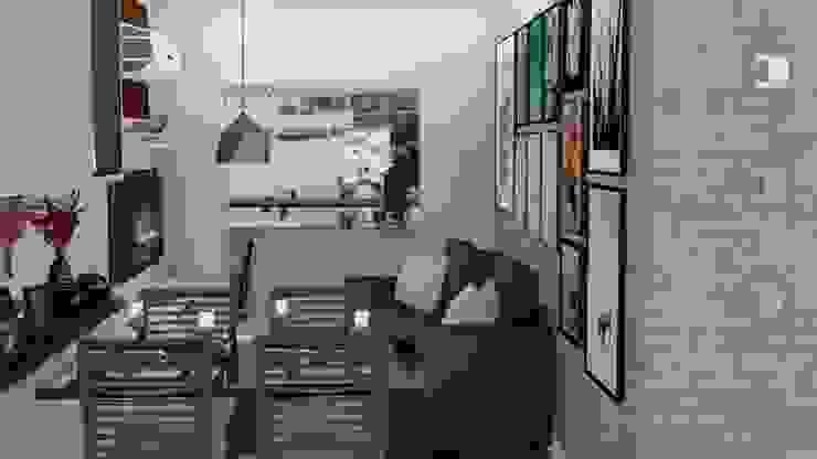 RESIDÊNCIA RSS – Sala de Estar/Jantar Salas de jantar modernas por MILWARD ARQUITETURA Moderno