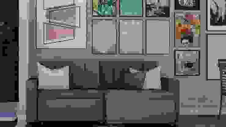 RESIDÊNCIA RSS – Sala de Estar/Jantar Salas de estar modernas por MILWARD ARQUITETURA Moderno
