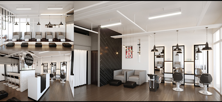 Beauty Salon by Kenchiku 2600 Architectural Design Services Modern Bricks