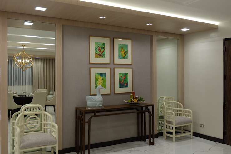 2BR Condo @ East Horizon, Ortigas Modern Corridor, Hallway and Staircase by D3ID Design and Build Modern