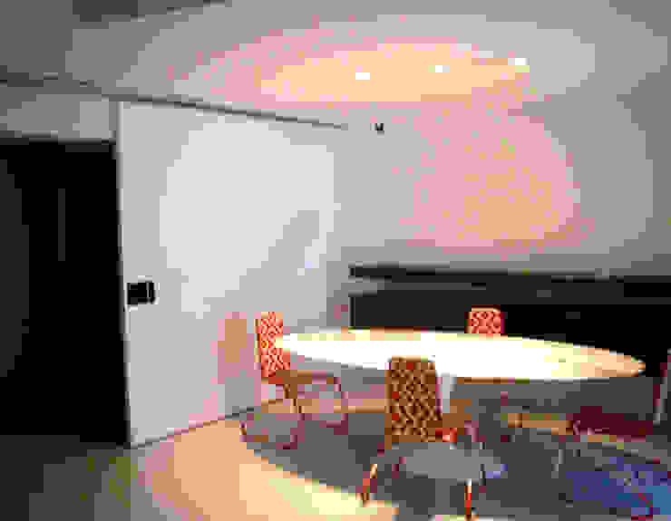 Smart Business Minimalist dining room Iron/Steel White