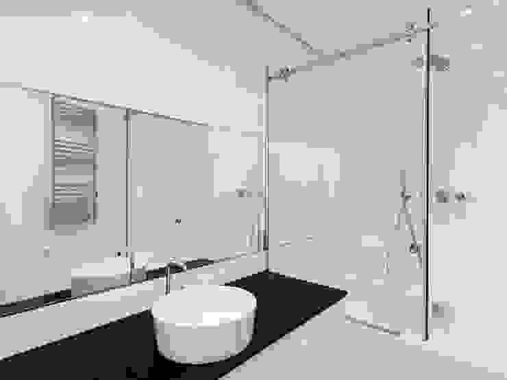 CANCEL DE BAÑO CORREDIZO Técnica y edificación Baños minimalistas Vidrio Transparente