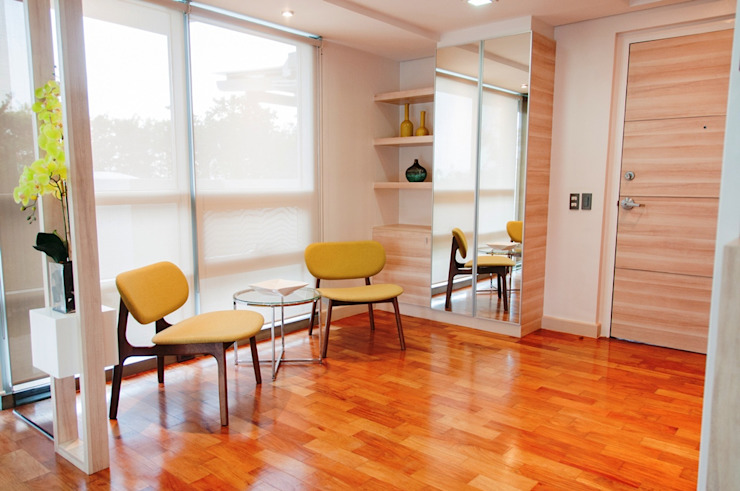 The Residences At Greenbelt by D3ID Design and Build Modern Wood Wood effect