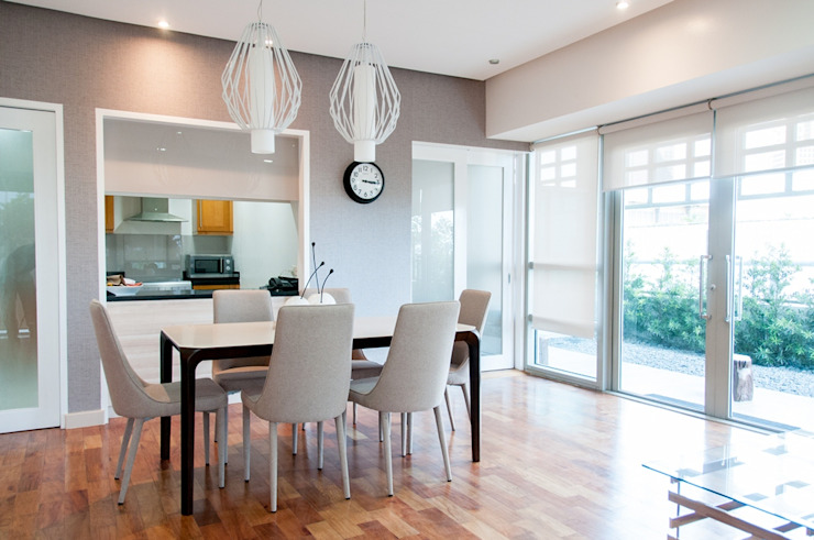 The Residences At Greenbelt Modern dining room by D3ID Design and Build Modern Concrete
