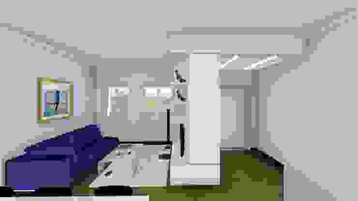 Render degli interni - ingresso Soggiorno moderno di Studio Dalla Vecchia Architetti Moderno