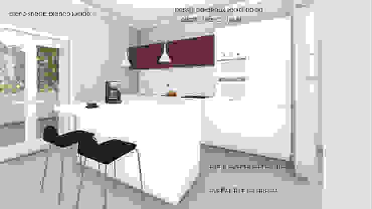 Render degli interni - la cucina Studio Dalla Vecchia Architetti Cucina attrezzata