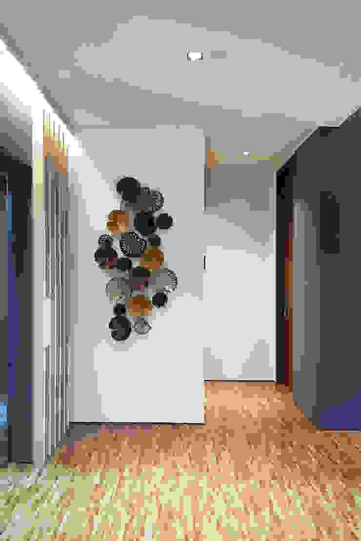 RSDS Architects 現代風玄關、走廊與階梯