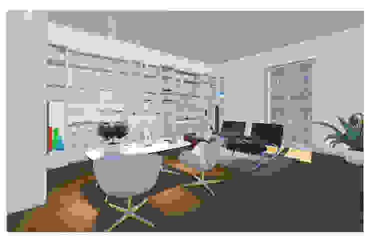 Abitazione al piano nobile Studio Dalla Vecchia Architetti Studio moderno