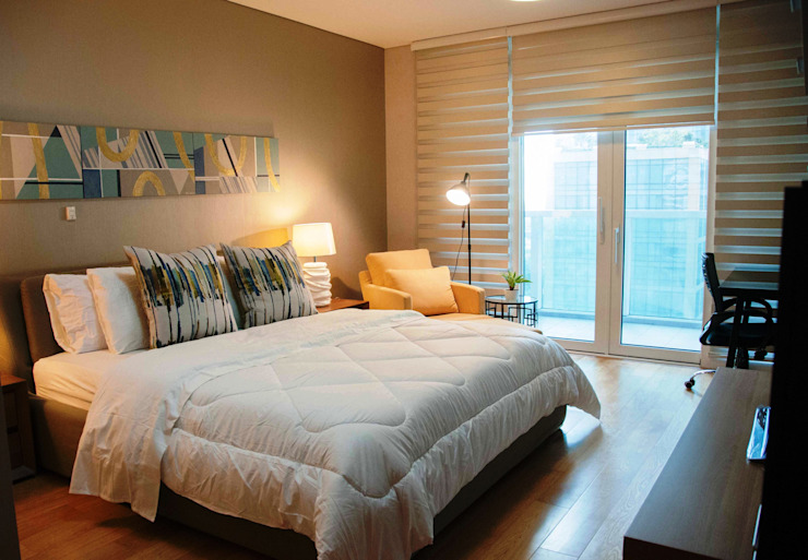 2BR Park Terraces, Makati Modern style bedroom by D3ID Design and Build Modern