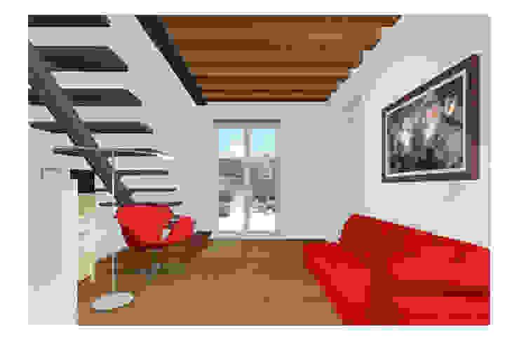 Abitazione su due livelli Studio Dalla Vecchia Architetti Soggiorno moderno