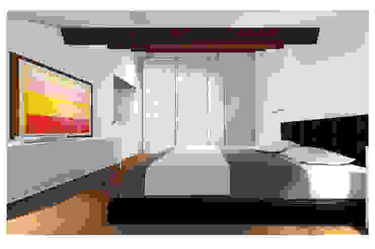 La mansarda Studio Dalla Vecchia Architetti Camera da letto moderna