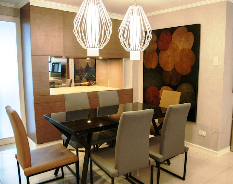 Phoenix Heights Condominium, Pasig Modern dining room by D3ID Design and Build Modern