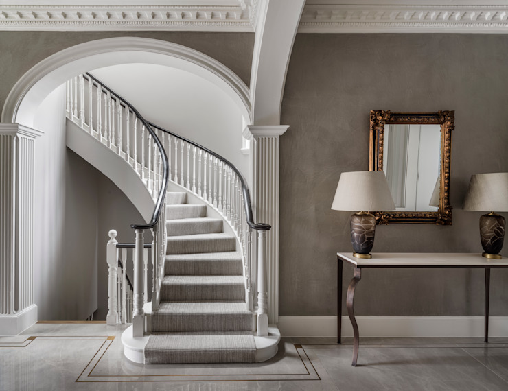 Carlton Hill, Entrance Classic style corridor, hallway and stairs by Roselind Wilson Design Classic