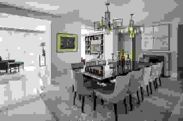 Carlton Hill, Open Plan Dining Room Roselind Wilson Design Comedores de estilo clásico