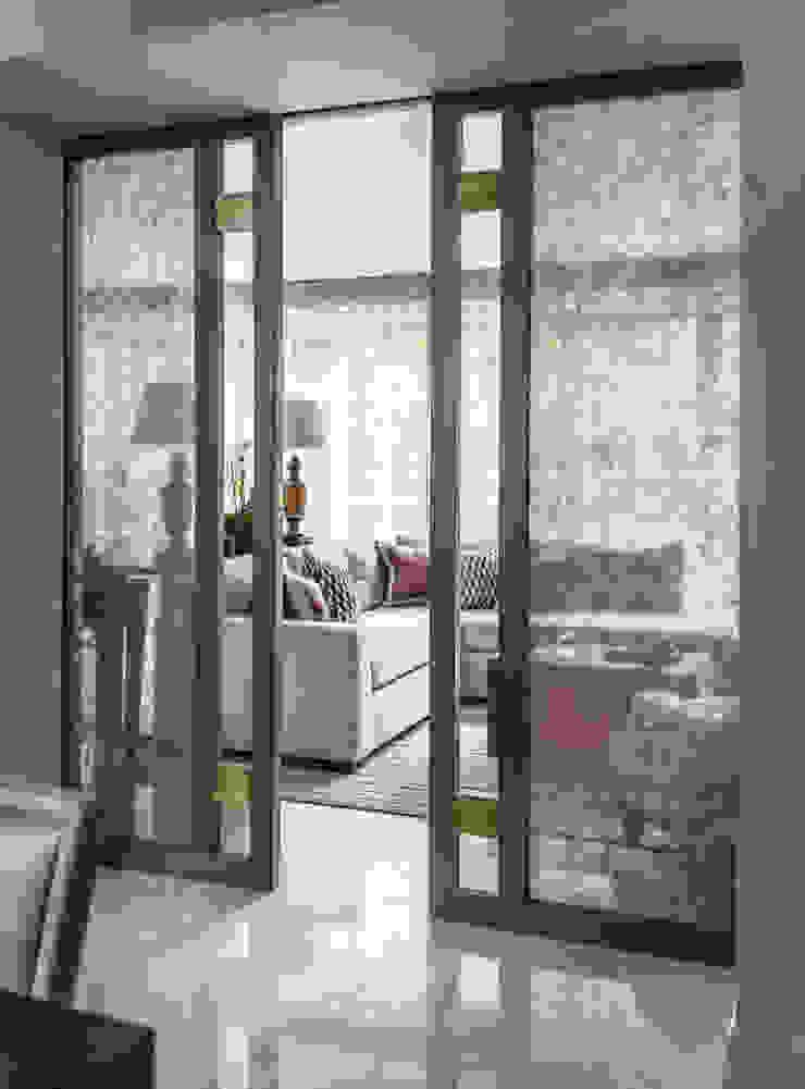 Carlton Hill, Living Room Pocket Doors Roselind Wilson Design Livings de estilo clásico