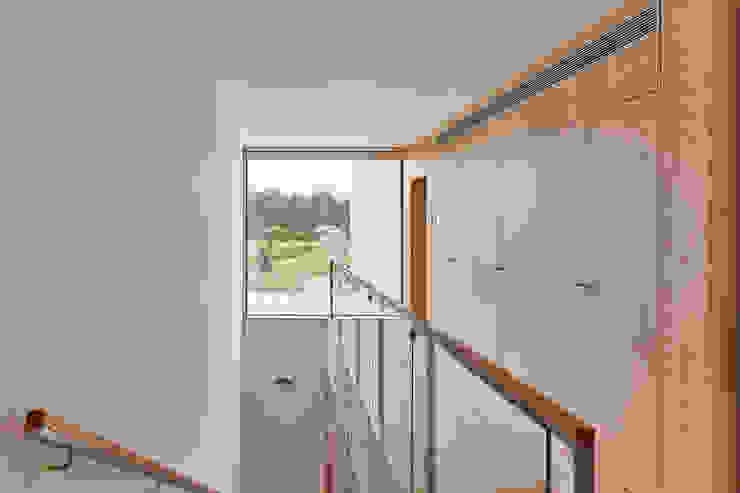 CM House Atelier d'Arquitetura Lopes da Costa Pasillos, vestíbulos y escaleras de estilo moderno Madera