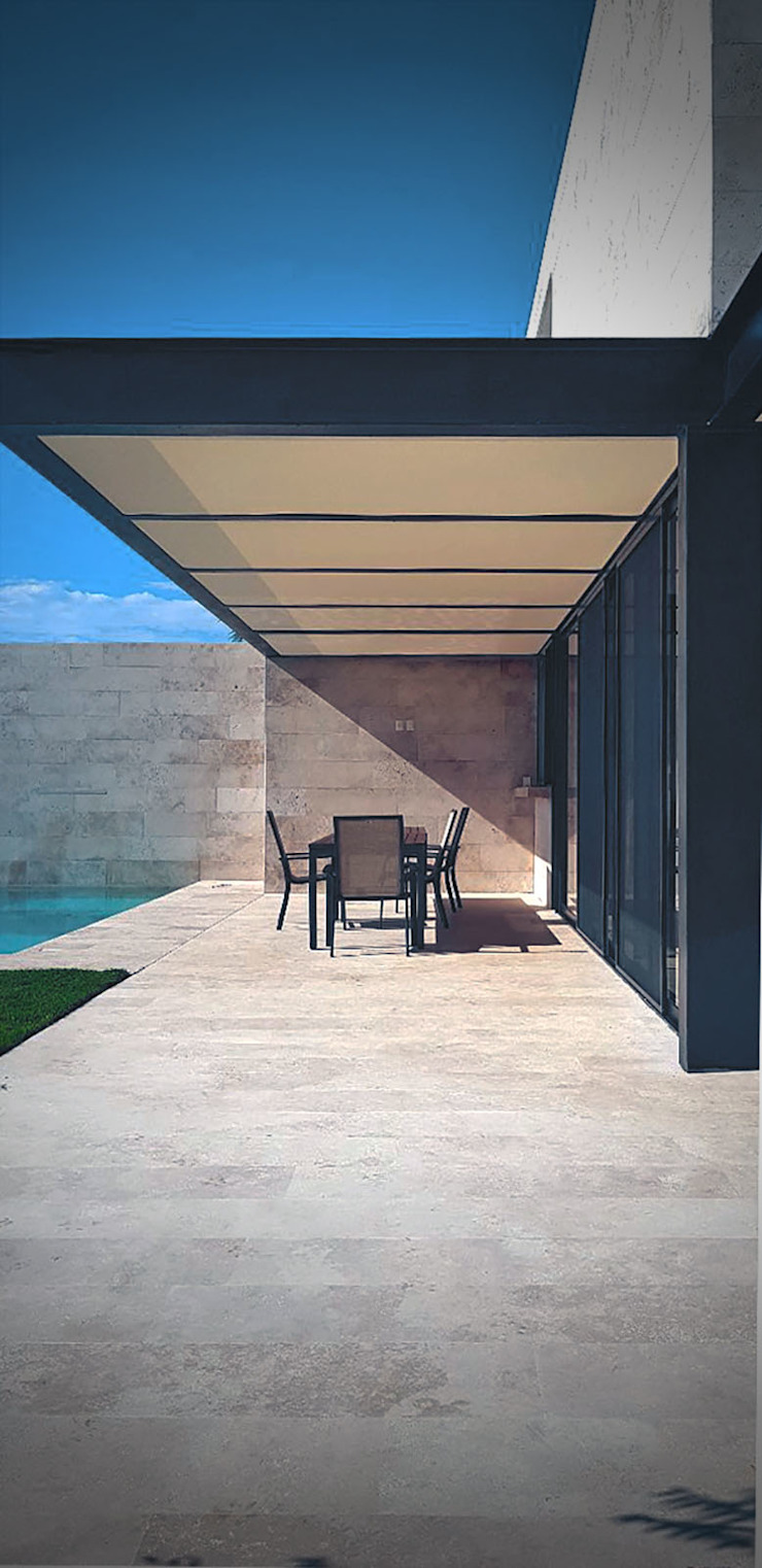 V+3 Arquitectos Single family home Metal Beige