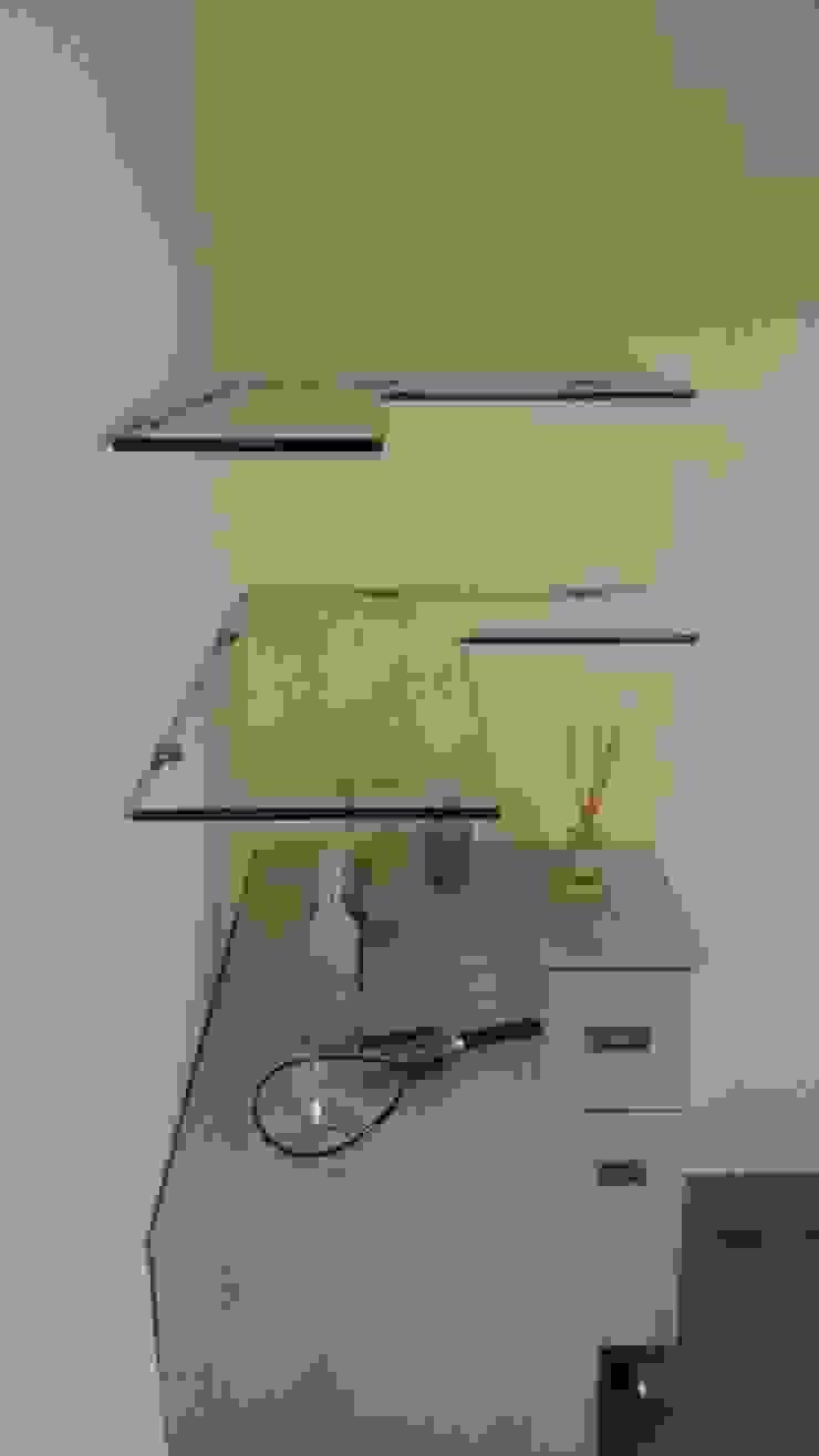 Repisa en Vidrio Templado de Aluminios CMC Moderno Vidrio