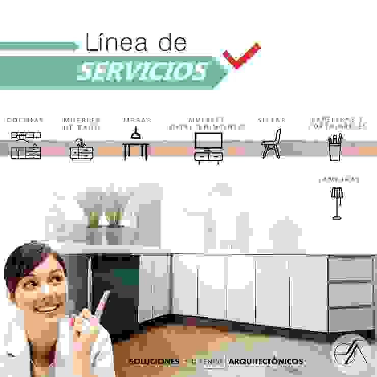 LINEA DE SERVICIOS de (SDA ) Soluciones y Diseños Arquitectonicos Moderno Aglomerado