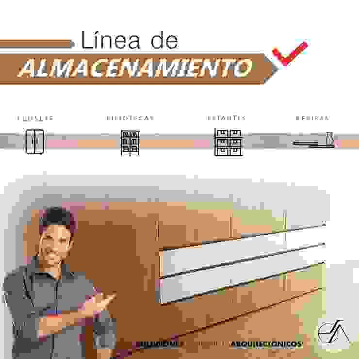 LINEA DE ALMACENAMIENTO de (SDA ) Soluciones y Diseños Arquitectonicos Moderno Aglomerado