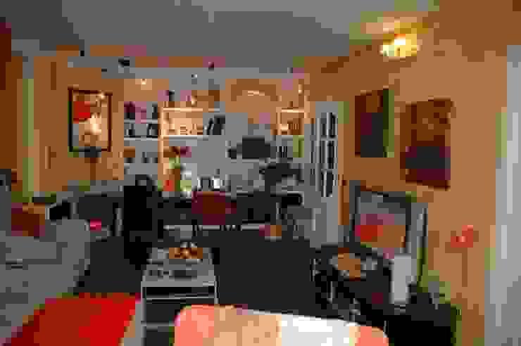 Pintores Juan Jiménez Modern living room Marble Orange