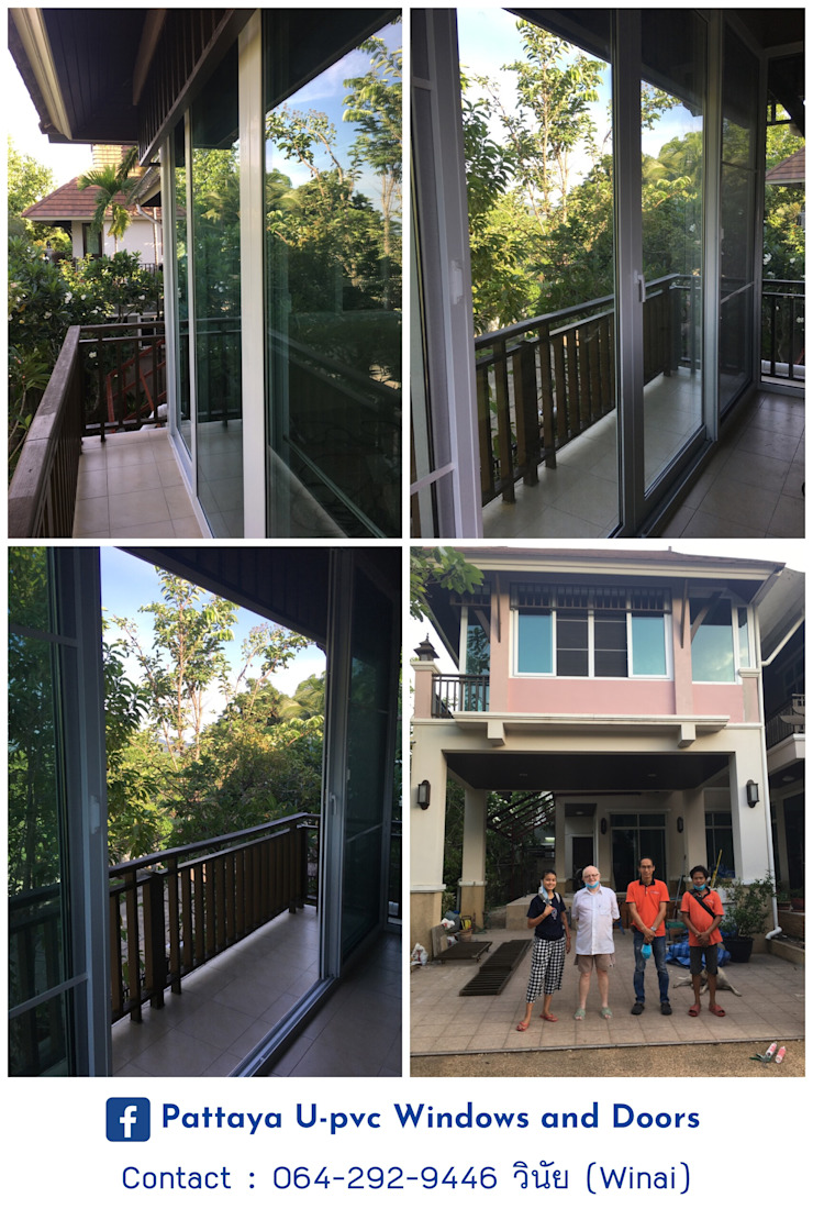 โรงงาน พัทยา กระจก ยูพีวีซี Pattaya UPVC Windows & Doors Jendela plastik Kaca White