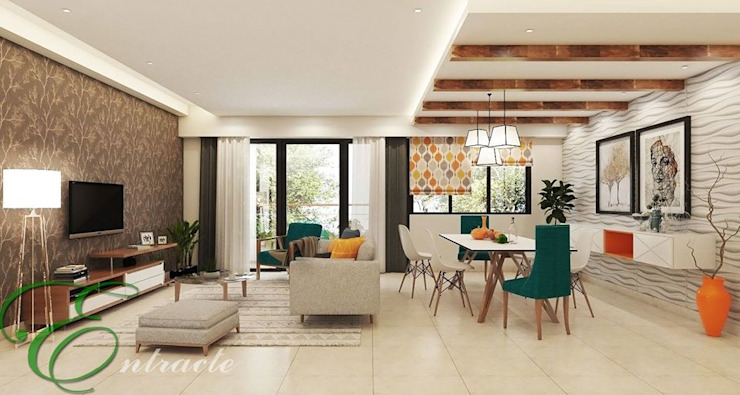Living Cum Dining Entracte Modern living room