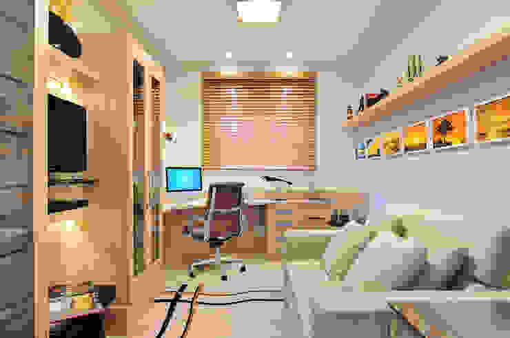 Home office do empresário Escritórios modernos por Adriana Scartaris: Design e Interiores em São Paulo Moderno