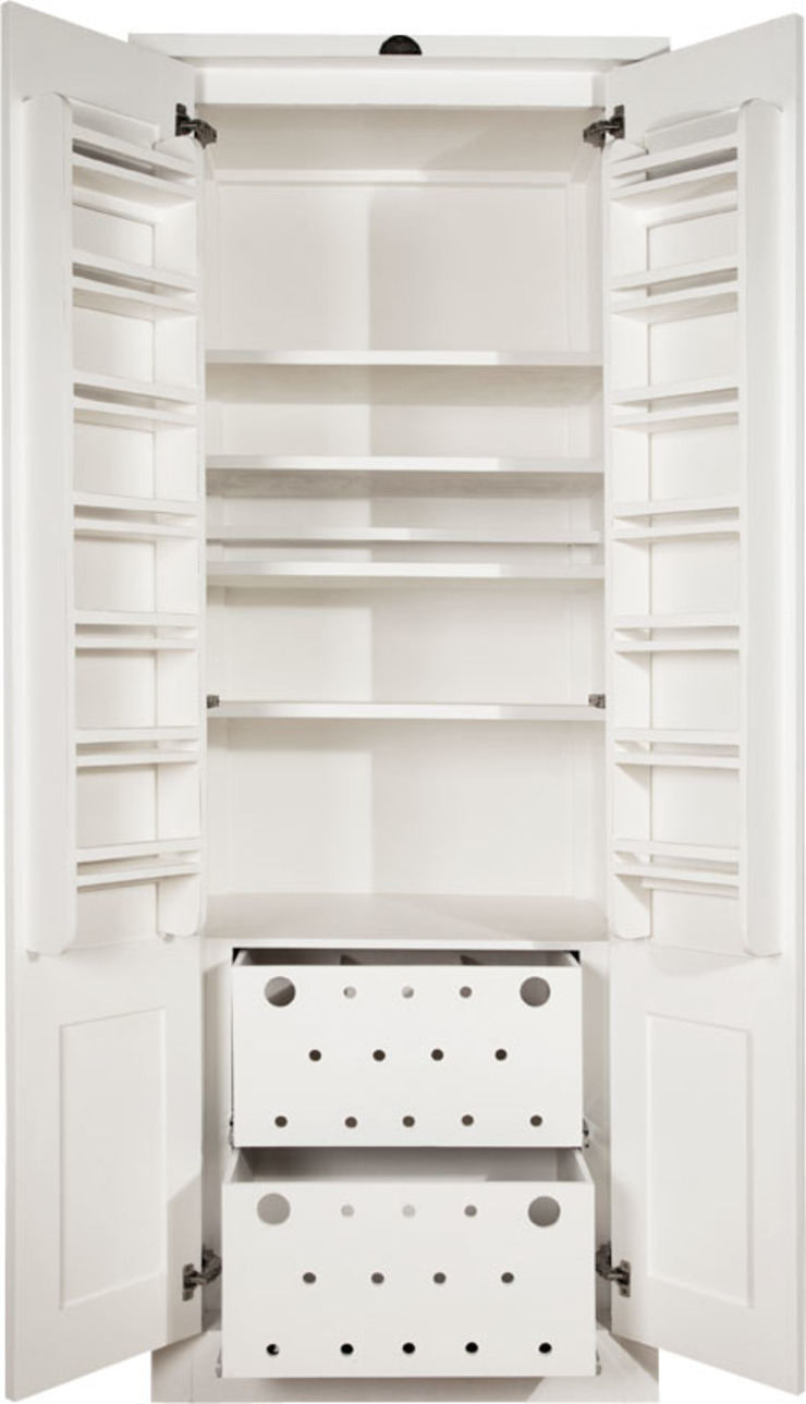 Swedish Style Deluxe Grocery Cupboard: modern  by Milestone Kitchens, Modern Wood Wood effect