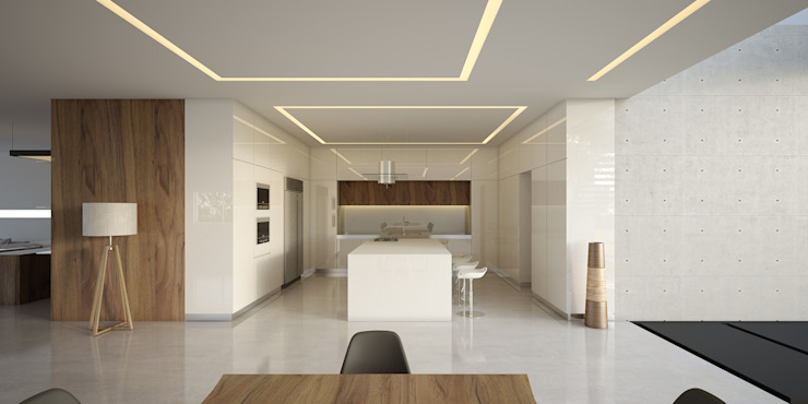21arquitectos Minimalist kitchen