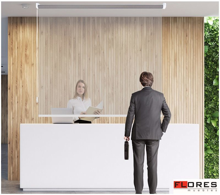 Muebles Flores Torreblanca Office spaces & stores Plastic Transparent