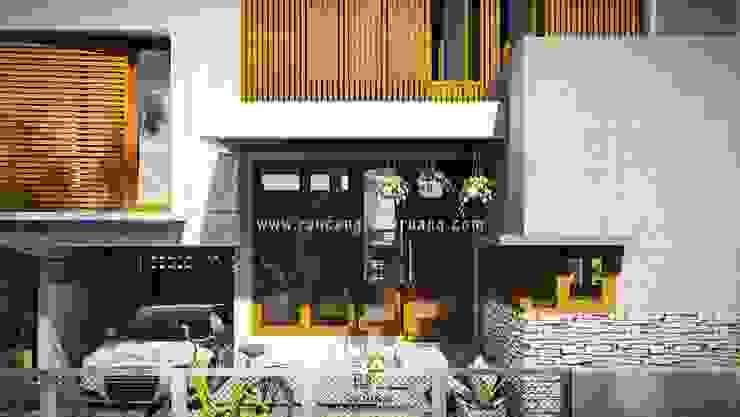 Wempy's Split Level House - Bantul, Yogyakarta Oleh Rancang Reka Ruang Minimalis Kayu Wood effect