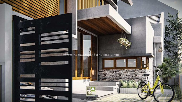 Wempy's Split Level House - Bantul, Yogyakarta Rumah Minimalis Oleh Rancang Reka Ruang Minimalis Besi/Baja