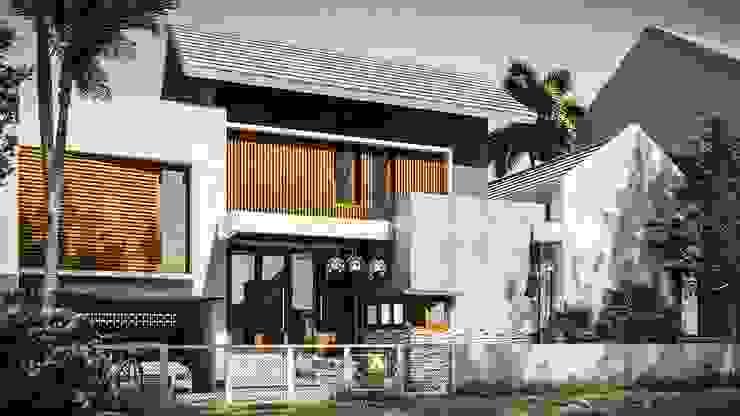 Wempy's Split Level House - Bantul, Yogyakarta Oleh Rancang Reka Ruang Minimalis Beton