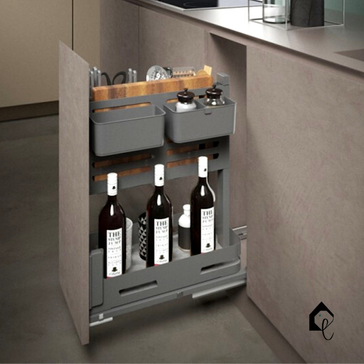 Pull-Out Multipurpose Storage 300mm | Orione Collection Equipoise Living (eqpliving.com) KitchenCabinets & shelves Aluminium/Zinc Grey