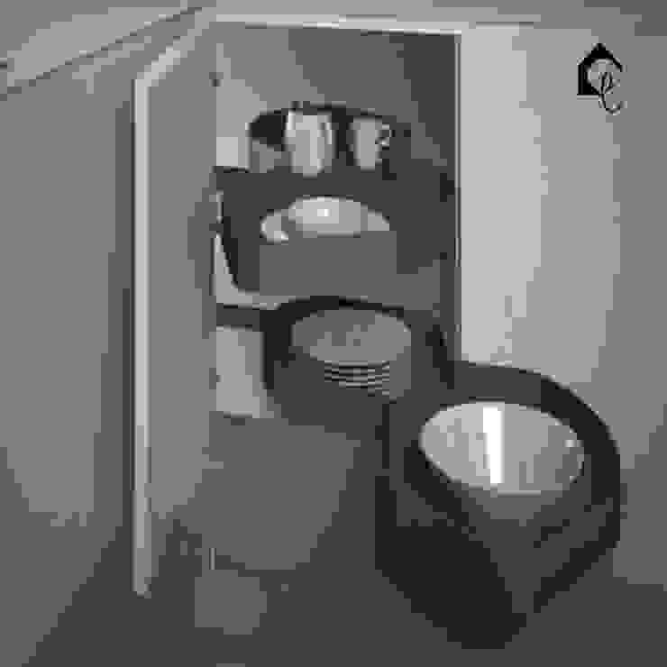 Kidney Corner Unit | L-Shape Cabinet Solution Equipoise Living (eqpliving.com) KitchenCabinets & shelves Aluminium/Zinc Grey