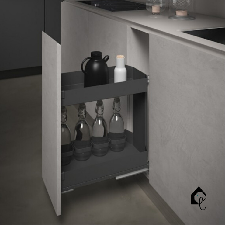 Pull-Out Storage Rack 300mm | Orione Collection Equipoise Living (eqpliving.com) KitchenCabinets & shelves Aluminium/Zinc Grey