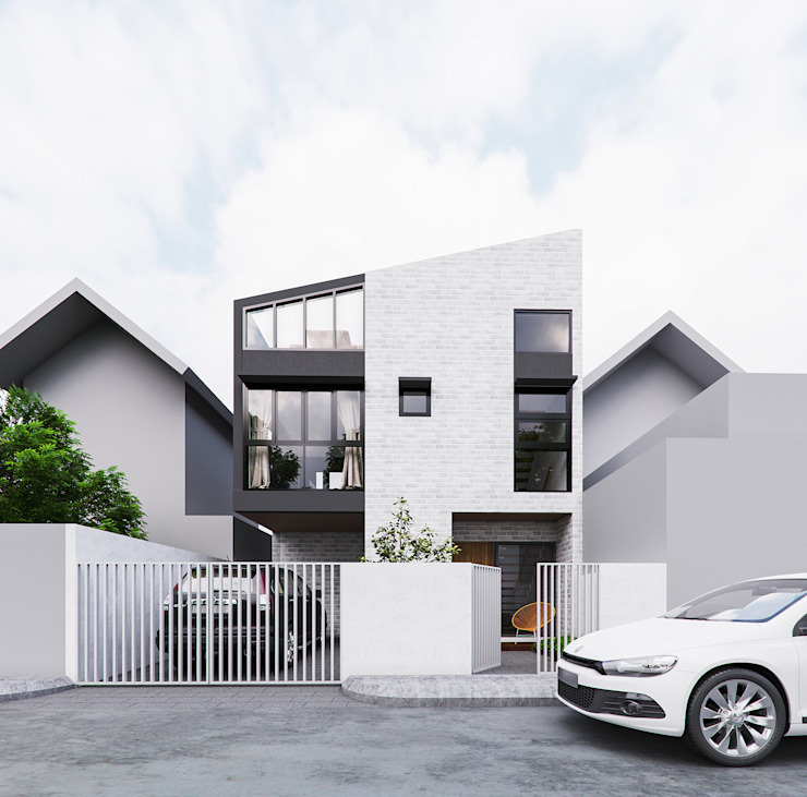 Exterior perspective intent during design phase by JAAL Builders Scandinavian