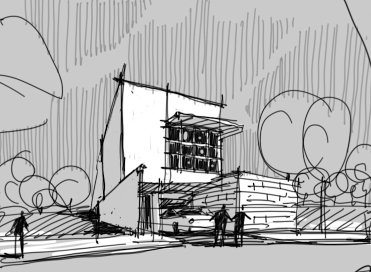 Massing sketch during schematic design phase JAAL Builders Single family home