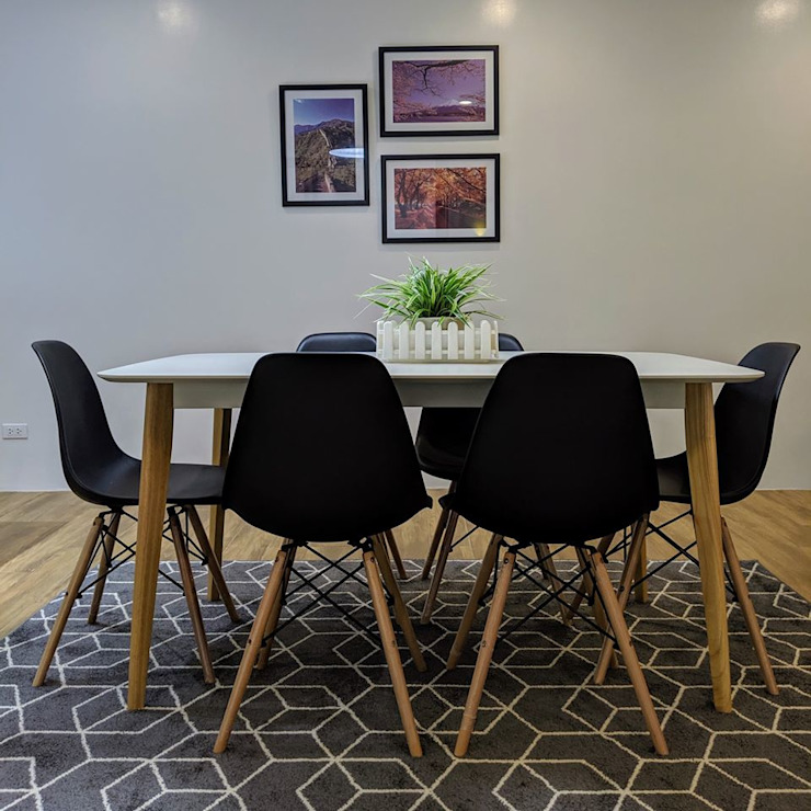 Dining space Scandinavian style dining room by JAAL Builders Scandinavian
